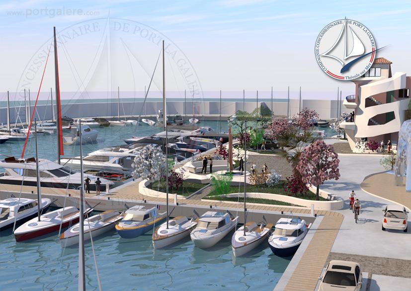 Suite de l'esplanade entrée - Port la Galère
