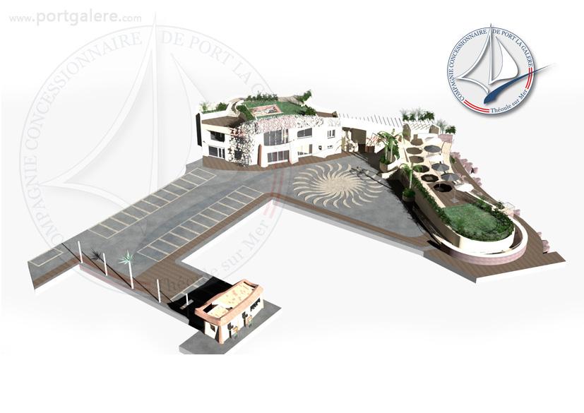 Plan de masse - Port la Galère