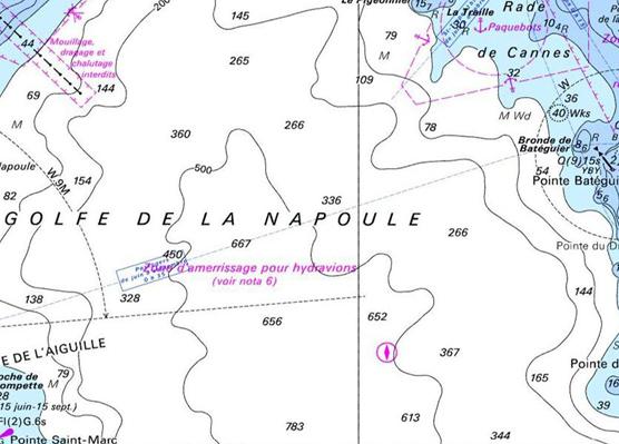 Carte marine Port la Galère