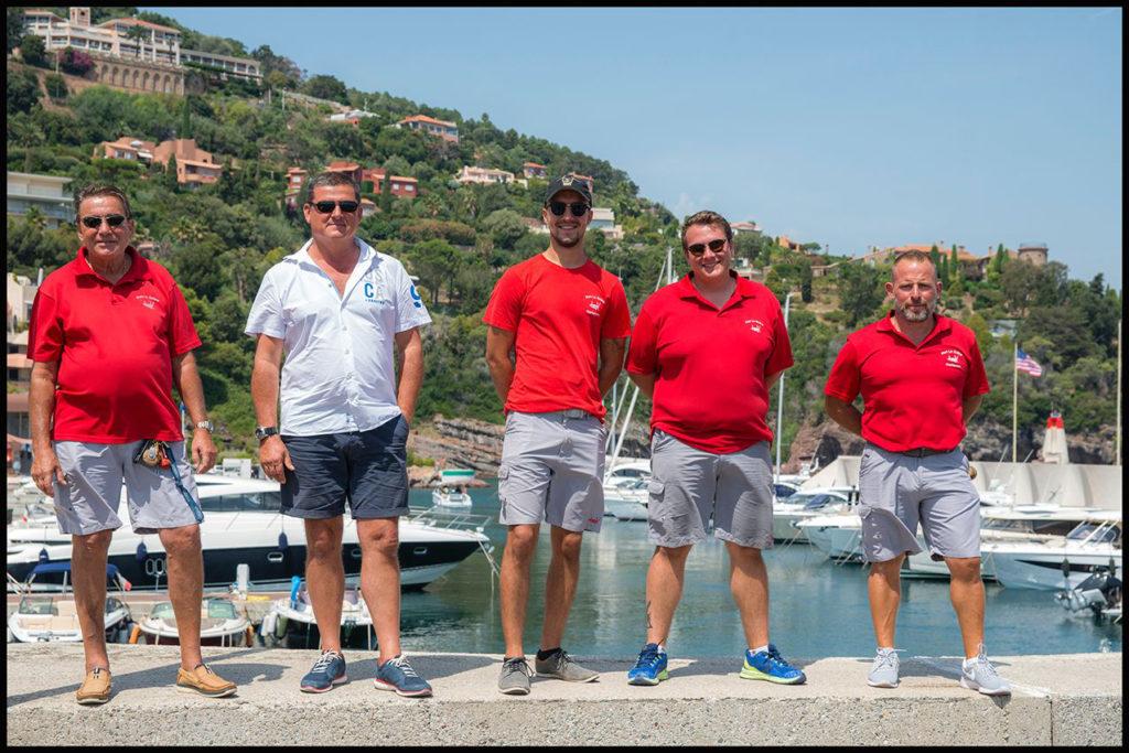 L'équipe d'été du port de Port la Galère
