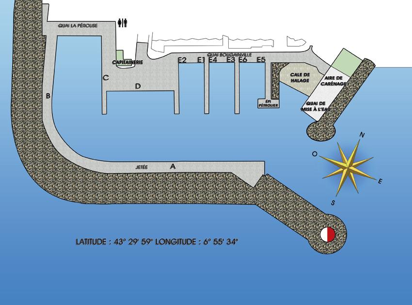 Plan du port de Port la Galère