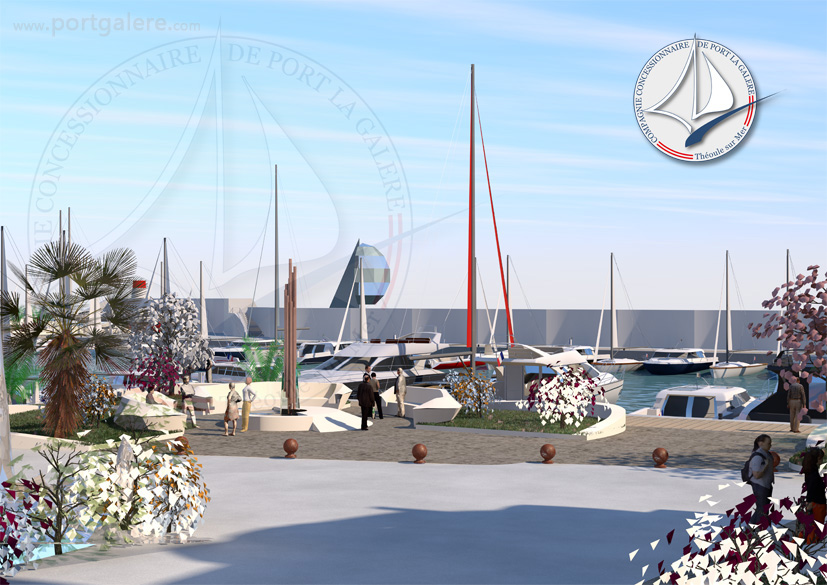 Esplanade et entrée - Port la Galère