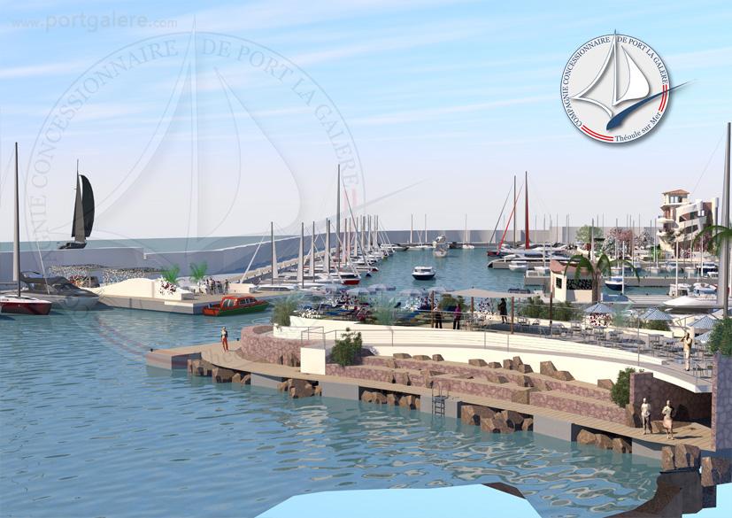 Quai d'honneur et terrasses - Port la Galère